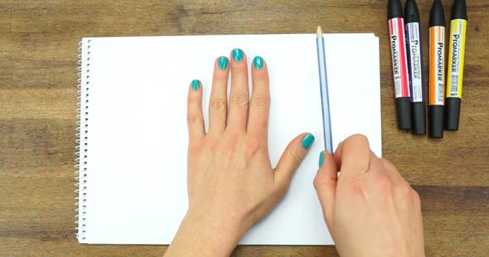 Ako nakresliť 3D ruku na papier - tvoríme optickú ilúziu na papieri s deťmi